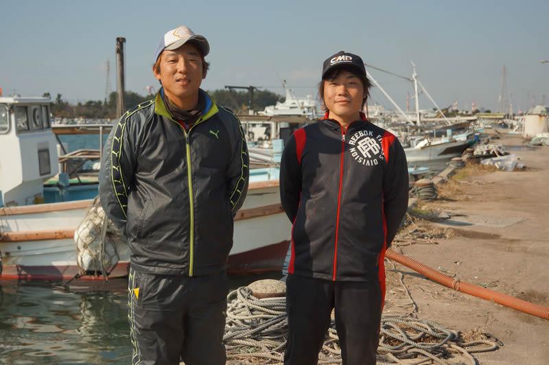 明石の海苔収穫