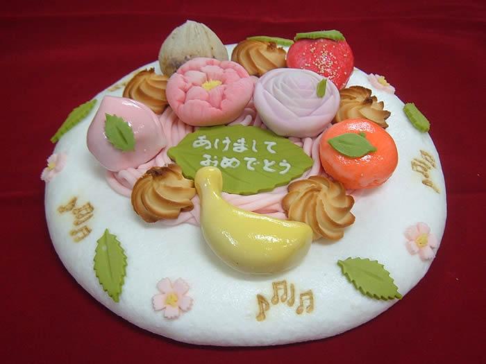 幸成堂 和菓子のデコレーションケーキ