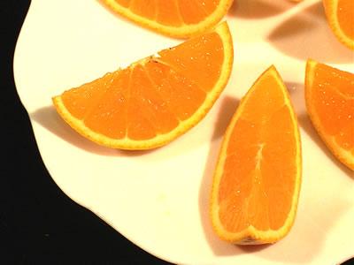 輪切りの清見オレンジ
